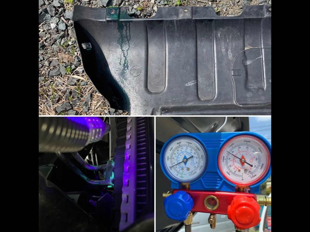 WK36 グランドチェロキーのエアコン コンデンサー交換します。の写真