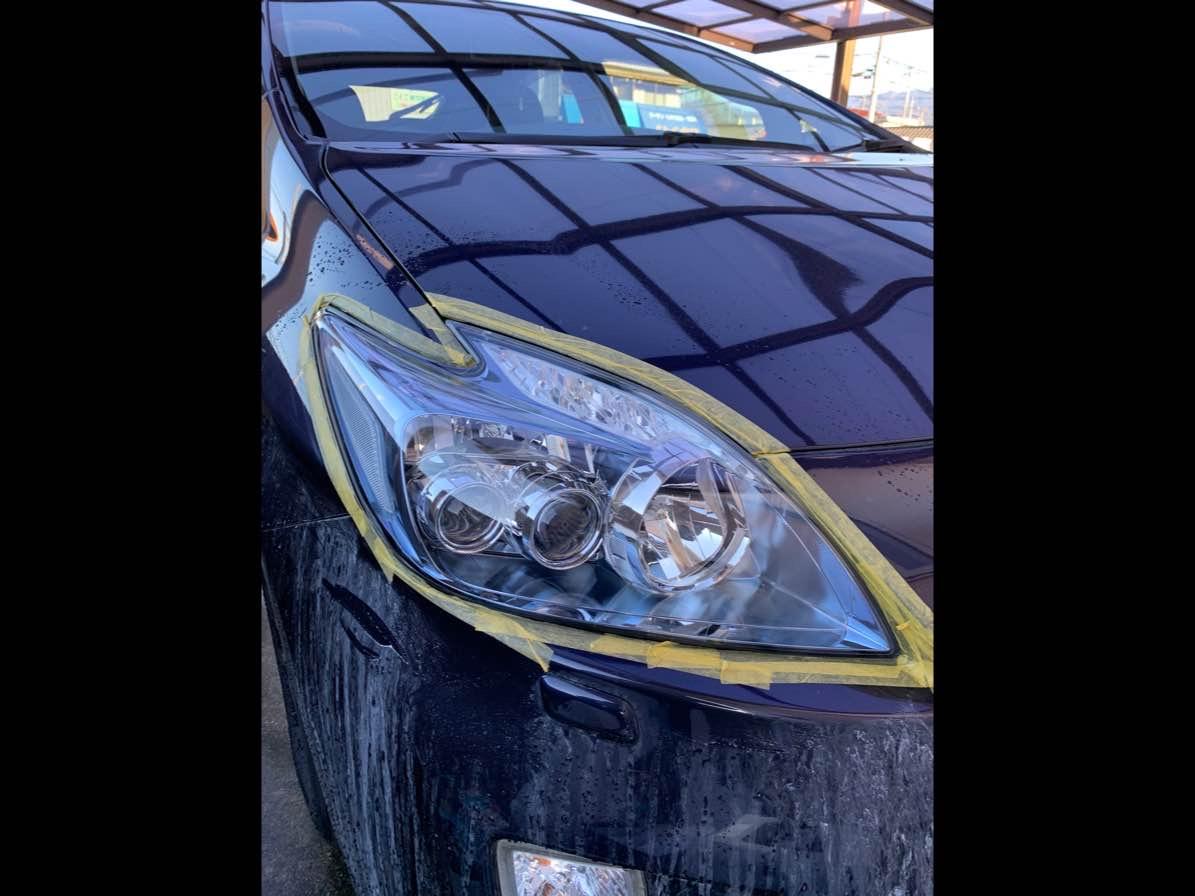 ヘッドライトコーティング(ヘッドライトスチーマー)施工 キバミ、クスミ、ヘッドライト復活の写真