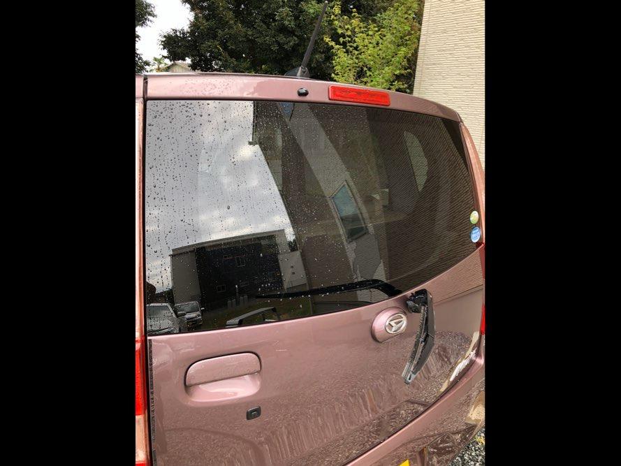 ガラスのウロコ除去と撥水コートの写真