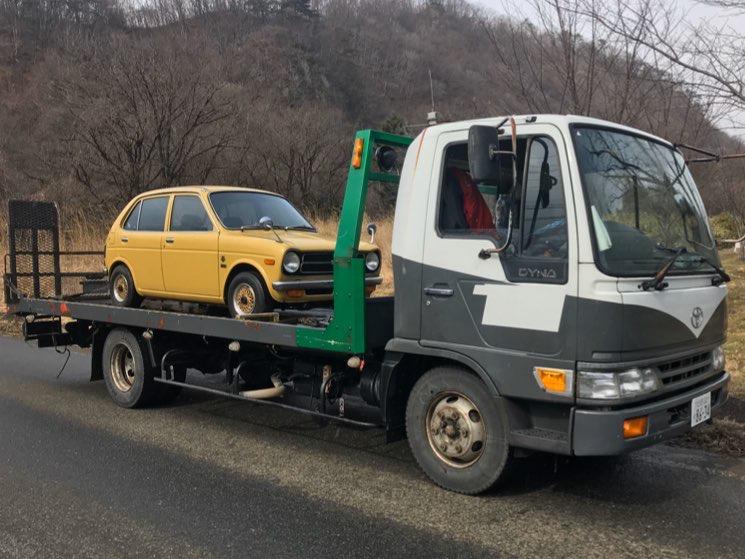 日本全国、不動車・部品取車両の陸送承ります!の写真